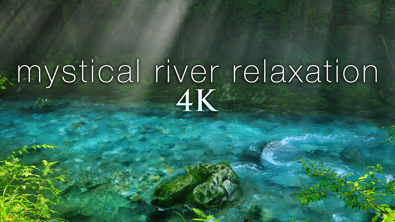 8HRS of Mystical River Scenes from Japan in 4K + Soothing Bird & Flowing Water Sounds for Relaxation