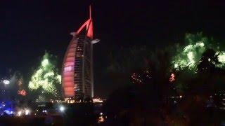 New Year Fireworks 2016 Dubai, Burj Al Arab (HD) Amazing sound