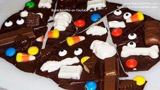 Easy Halloween Chocolate Bark Recipe   BakeLikeAPro YouTube
