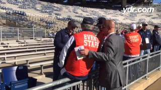 THE COACH WALK: Watch James Franklin on his pregame sideline tour of Beaver Stadium. #ydrpsu