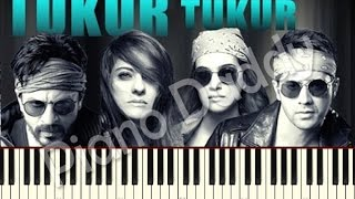 Tukur Tukur (Dilwale) Piano Tutorial | Notes | Sheet Music | Midi ~ Piano Daddy