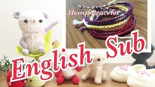 【How to Make a Hemp Bracelet】This video now can be viewed with English subtitles!