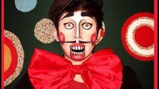 Títere o Marioneta  Maquillaje por Georgio - makeup tutorial Halloween marionette