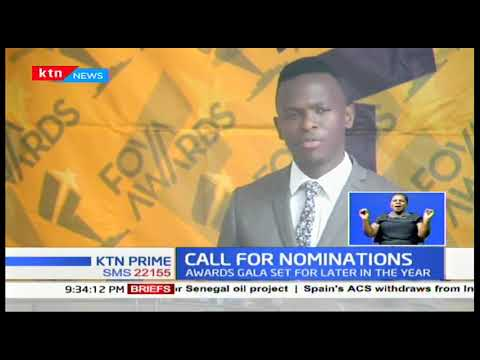 FOYA ready to receive nominations, the award\'s gala set for later in the year
