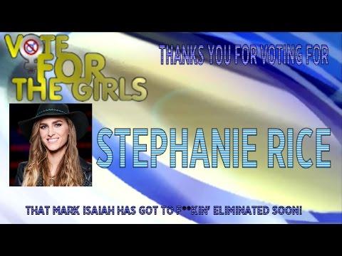 Stephanie Rice Eliminated on The Voice 12
