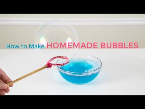How to make bubbles with just dish soap and water