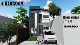 5 M*5 M Tiny House,small House -2 Storey Plan ,modern House, Floor Plan