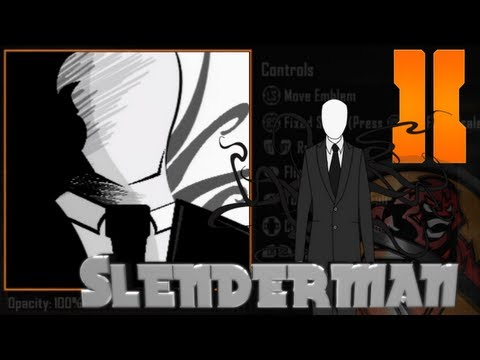 Black Ops 2 - Slender Man Emblem Tutorial