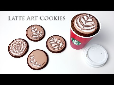 How To Decorate Latte Art Cookies!
