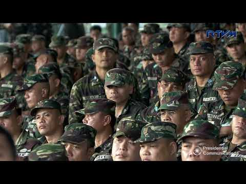 Ceremonial Demilitarization of CCSR Firearms During the Marawi Rebellion (Speech)
