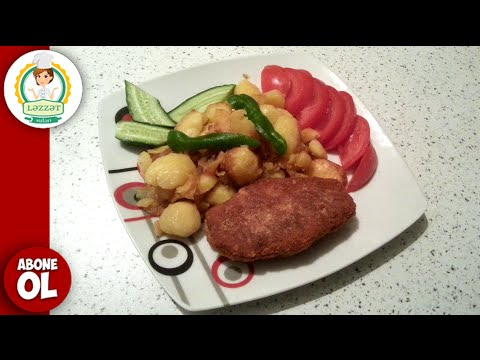 Toyuq Kotletinin Hazirlanmasi - Fast Food (Tavuk Köftesi Nasıl Yapılır - Fast Food)