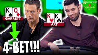 Garrett 4-bets KQo & Art Has Kings!!! ♠️ Live at the Bike!