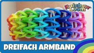 RainbowLoom Dreifach-Armband - deutsche Anleitung
