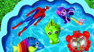 Learn with Surprise Eggs - Toys For Kids, Pj Masks, Barbie, Frozen, Peppa Pig for Children Pool