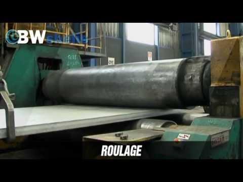Roulage de tôles - Chaudronnerie industrielles - BWshells