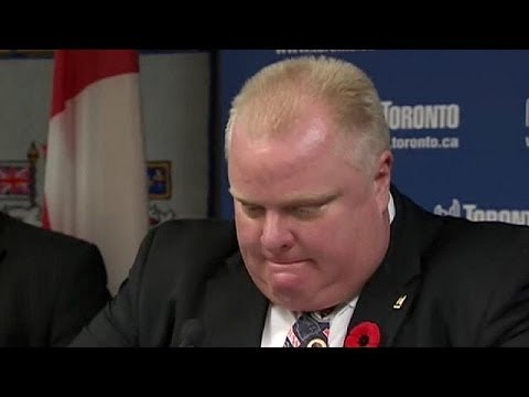Toronto Mayor Admits Smoking Crack Cocaine But Refuses To Resign.