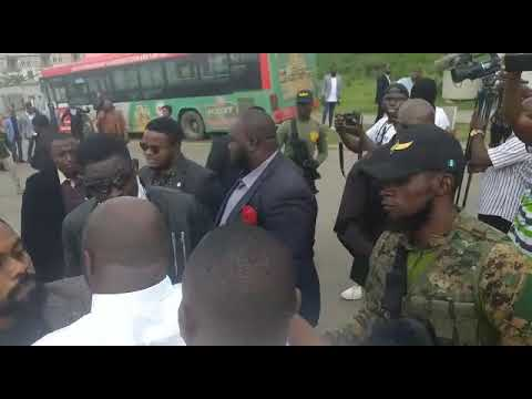More Photos + Video: protesters occupy COZA church Amid tight security,