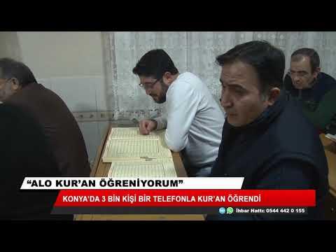 Alo Kuran Öğrenmek İstiyorum. Konya'da 3 Bin Kişi Bir Telefonla Kur'an öğrendi.