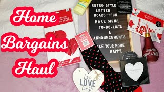 MASSIVE VALENTINES DAY HOME BARGAINS HAUL 2019
