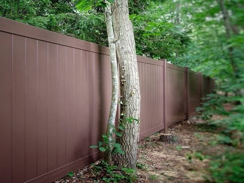 Install Vinyl Fence Post In Concrete Youtube