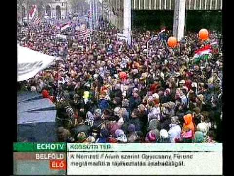 Magyar Hírlap tüntetés - Bayer Zsolt beszéde 1. rész