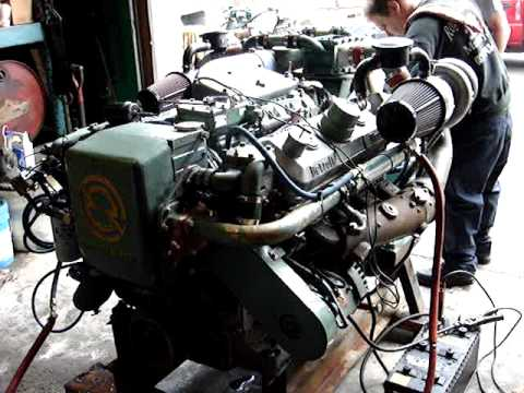 detroit diesel 8V-71 TI test run