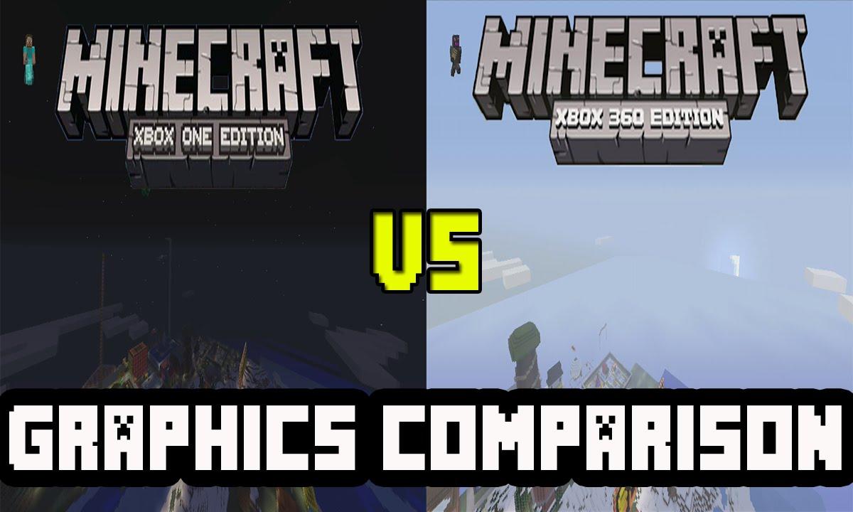 Minecraft Xbox One VS Minecraft Xbox 10!  Graphics Comparison