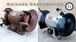 Electric Grinder Restoration  Hitachi Bench Grinder