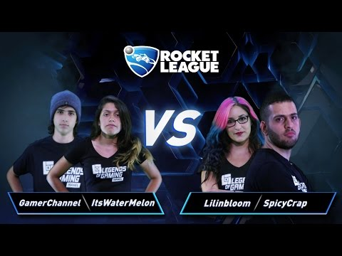 פרק 3: Lilinbloom & SpicyCrap vs GamerChannel & ItsWaterMelon - Rocket League