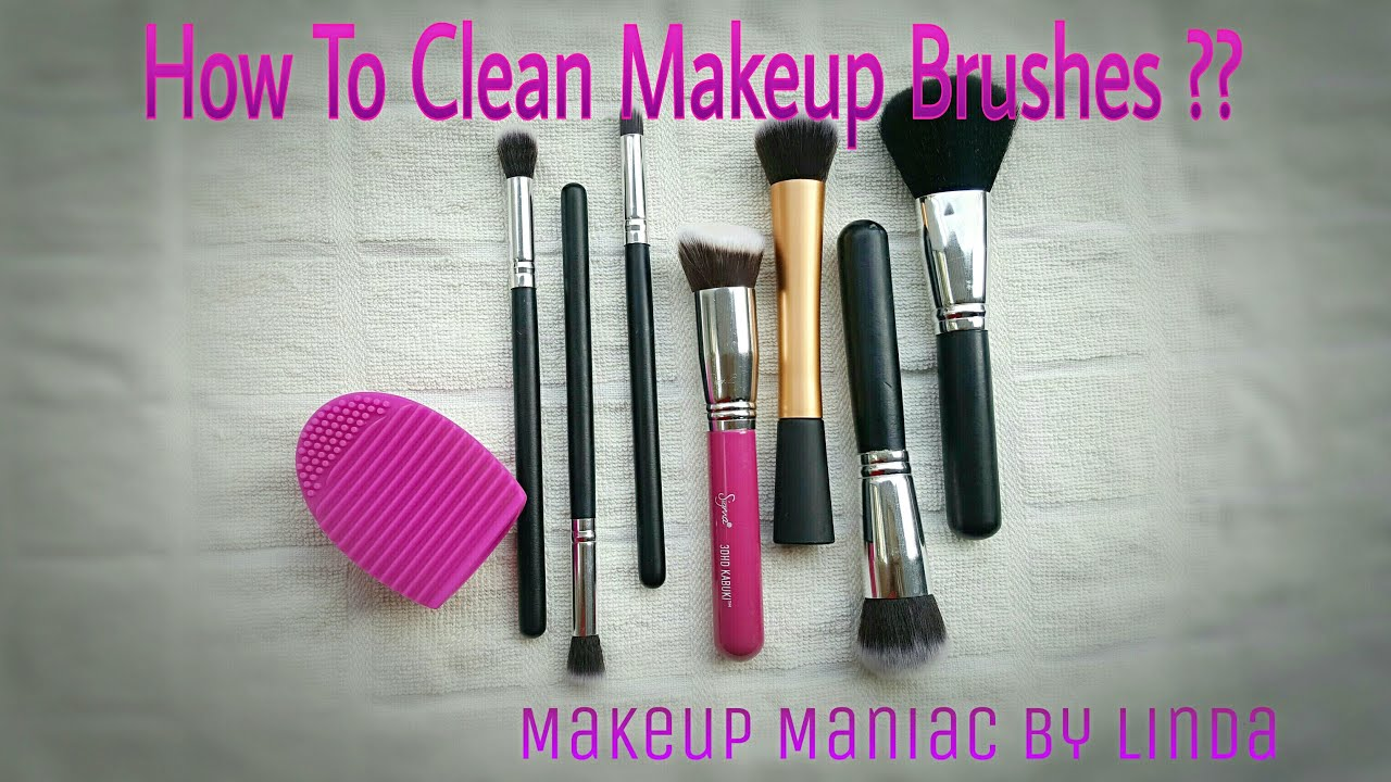 how to clean makeup brushes linda clean makeup brushes using brush egg youtube. Black Bedroom Furniture Sets. Home Design Ideas