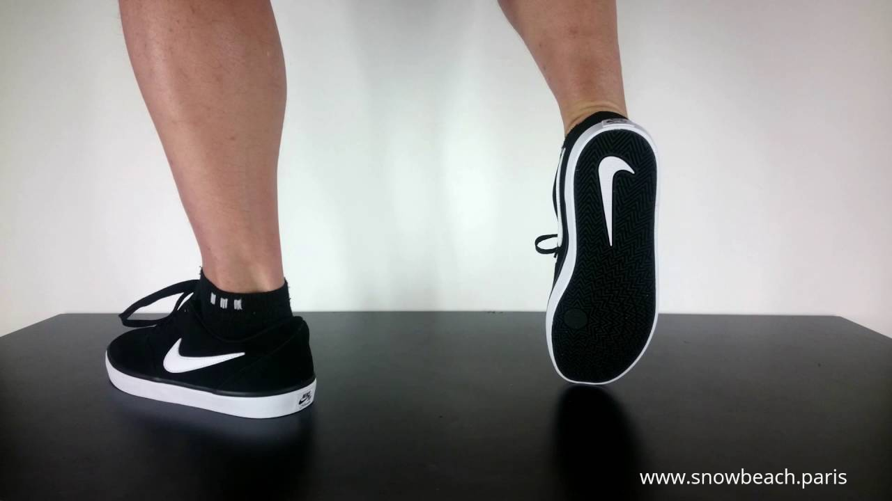 Nike Sb Check Solar Black White Youtube