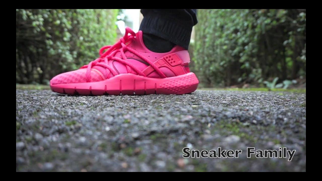 390c4c04961 Huarache NM Hot Lava On Feet - YouTube