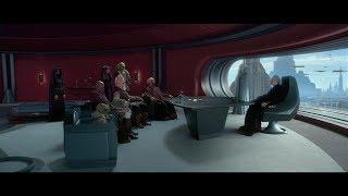 Канцлер Палпатин совещается с джедаями. HD