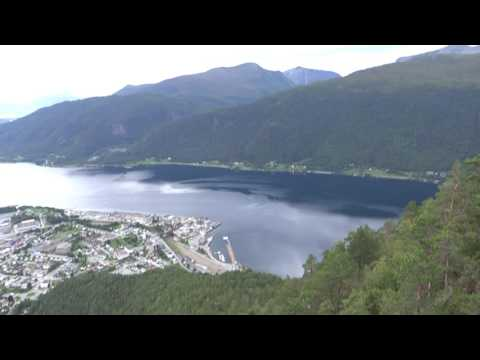 OurTour at the Cracking Rampestreken Viewpoint Above Åndalsnes in Norway