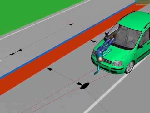 Unfall mit Fußgänger auf Zebrastreifen (Simulation) - YouTube