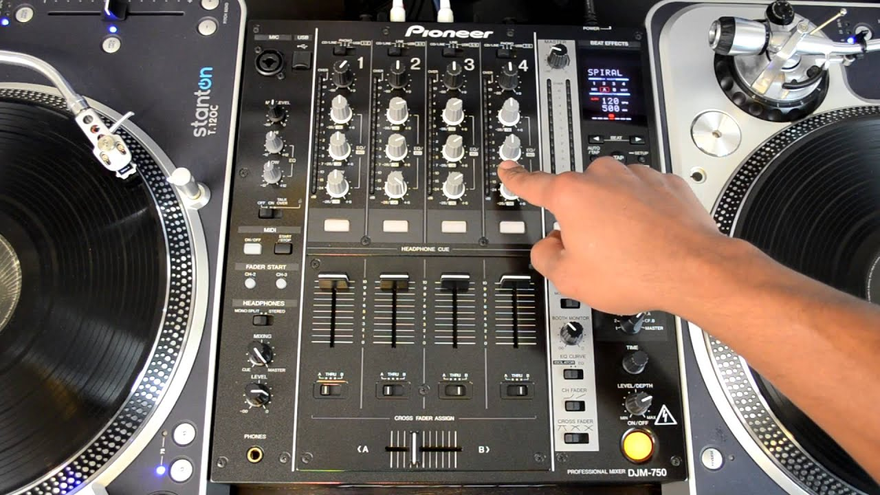 Pioneer DJM 750 Four Channel Professional DJ Mixer HD Video Review