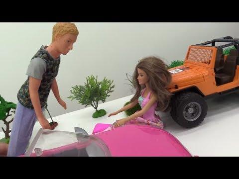 Игры для Девочек: КЕН чинит машину Терезы! #БАРБИ ревнует 😐 Мультик #Куклы Barbie / Видео для Детей