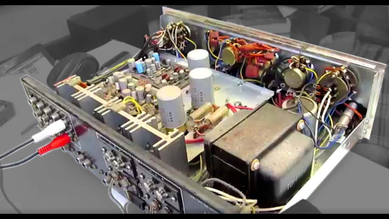 Old Amplifier Clean Up Youtube