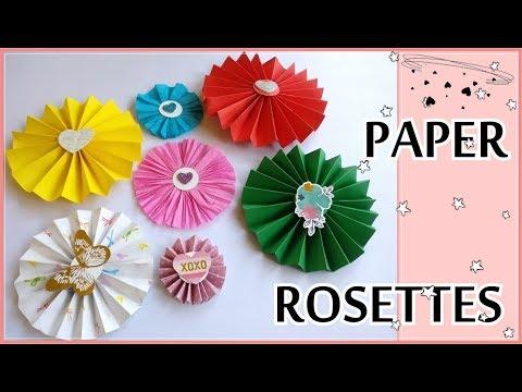 DIY Paper Rosette || CREPE Paper Rosette || Embellishment