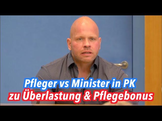 Intensivpfleger vs. Minister Spahn in Pressekonferenz