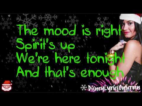 Demi Lovato  Wonderful Christmas Time Lyrics On Screen  HD
