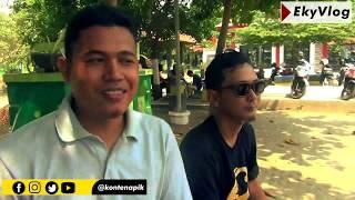 Begini Aksi Vlogger Pemalang   ngevlog di Taman Patih Sampun #vlogger