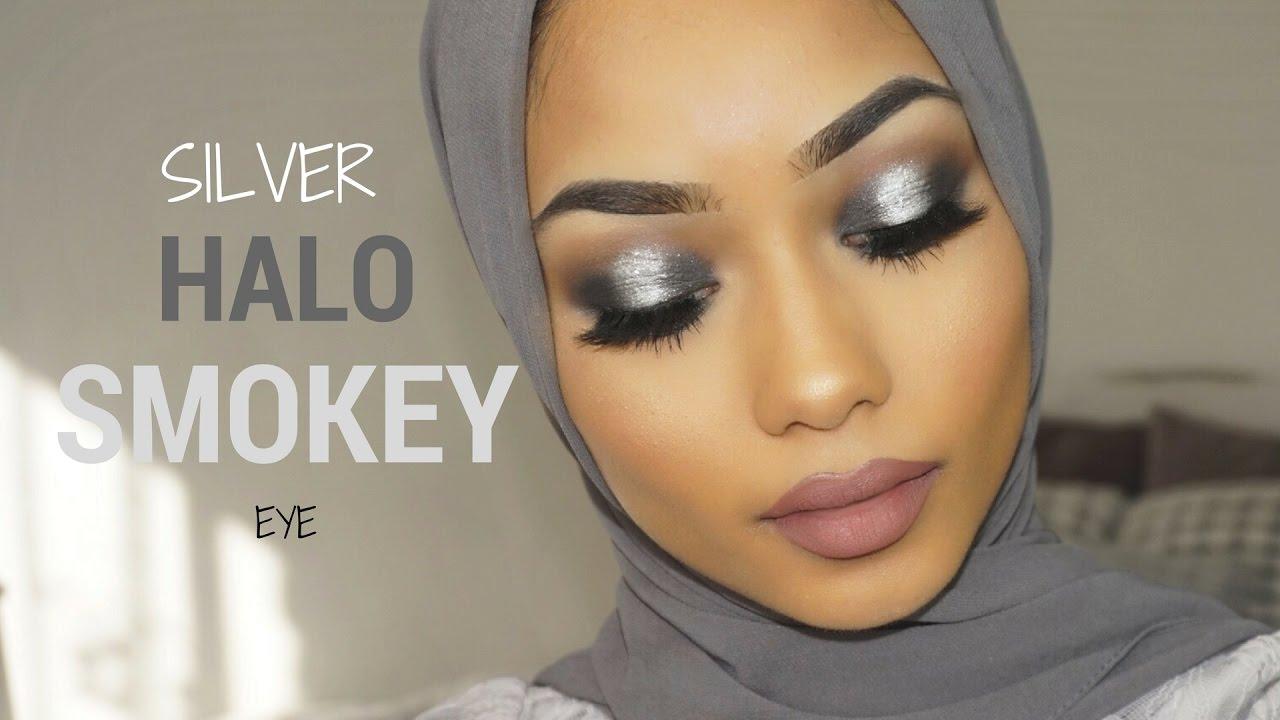 Silver Halo Smokey Eye Makeup Tutorial Sabina Hannan