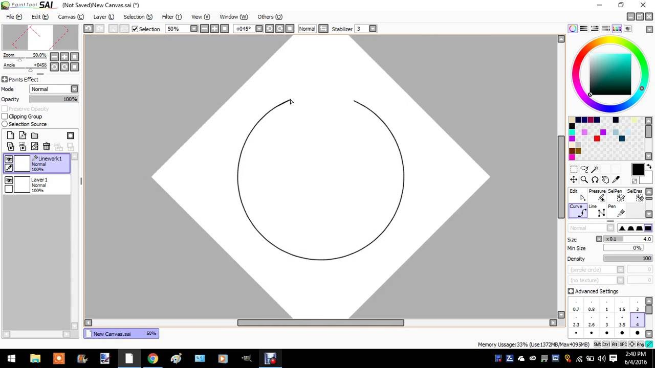 How To Make A Circle In Paint Tool Sai