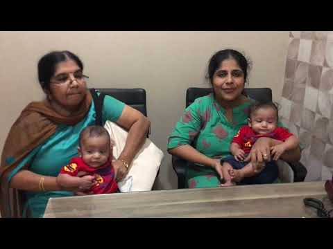 Couple from Kerala delivered a cute twin ivf/ICSI baby from chennai fertility center-Dr.VM.Thomas