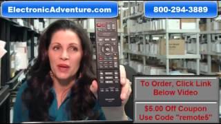 Original Sharp  Remote Control Coupon $5 Off  RRMCGA629WJPA (GA629PA) for  Blu Ray DVD