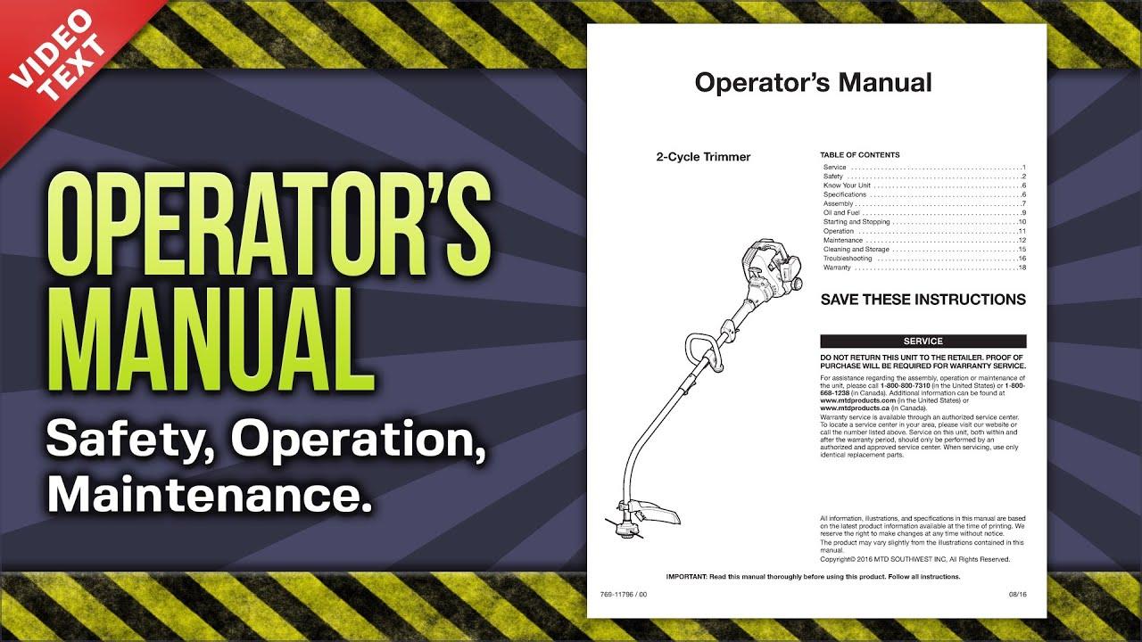 Operator U0026 39 S Manual  Hyper Tough 16 U0026quot  Curved Shaft String
