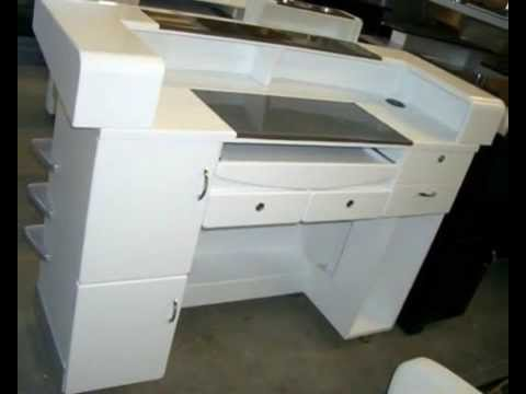 Salon reception desks for sale youtube for Armoire salon