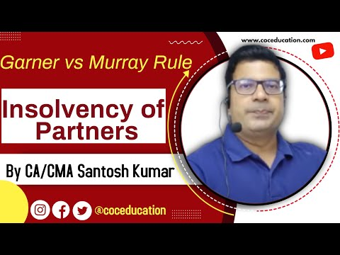 Garner vs Murray rule (insolvency of partners in dissolution of partnership) by CA Santosh kumar