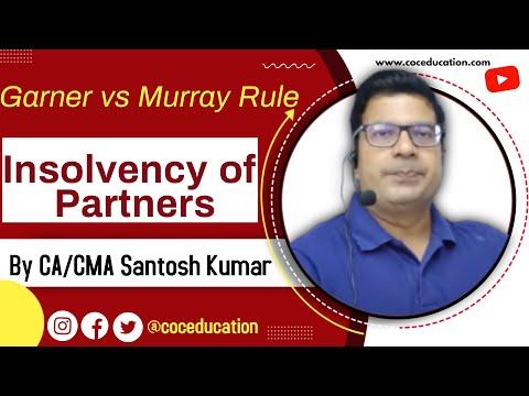 Garner vs Murray rule (insolvency of partners in dissolution of partnership) by CA Santosh kumar